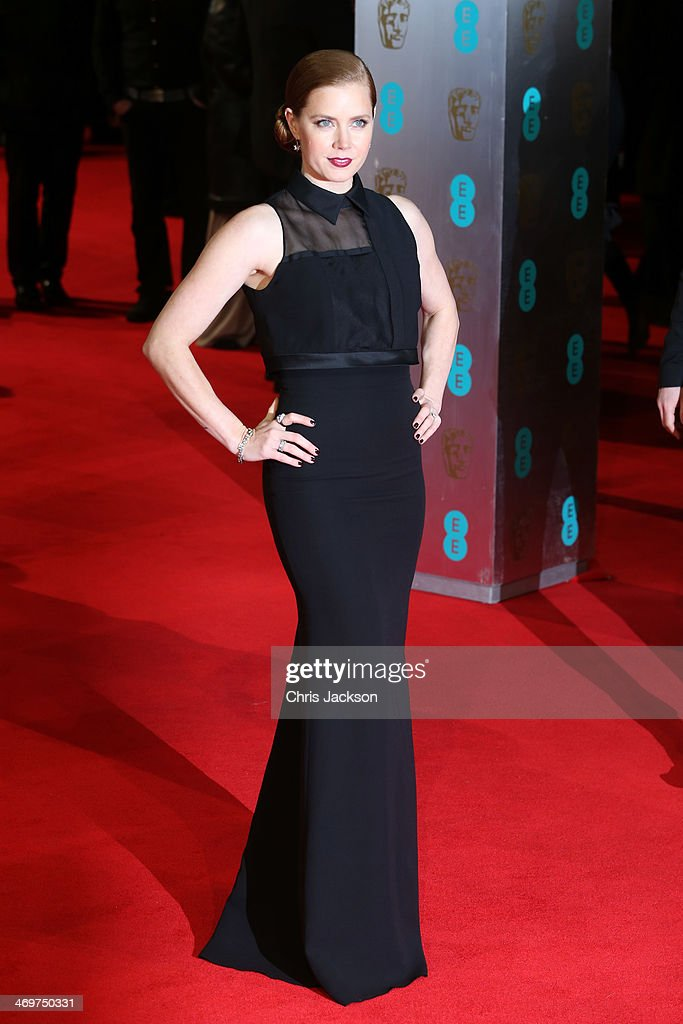 Actress <a gi-track='captionPersonalityLinkClicked' href=/galleries/search?phrase=Amy+Adams&family=editorial&specificpeople=213938 ng-click='$event.stopPropagation()'>Amy Adams</a> attends the EE British Academy Film Awards 2014 at The Royal Opera House on February 16, 2014 in London, England.