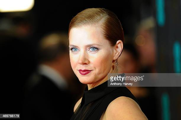 Actress Amy Adams attends the EE British Academy Film Awards 2014 at The Royal Opera House on February 16 2014 in London England