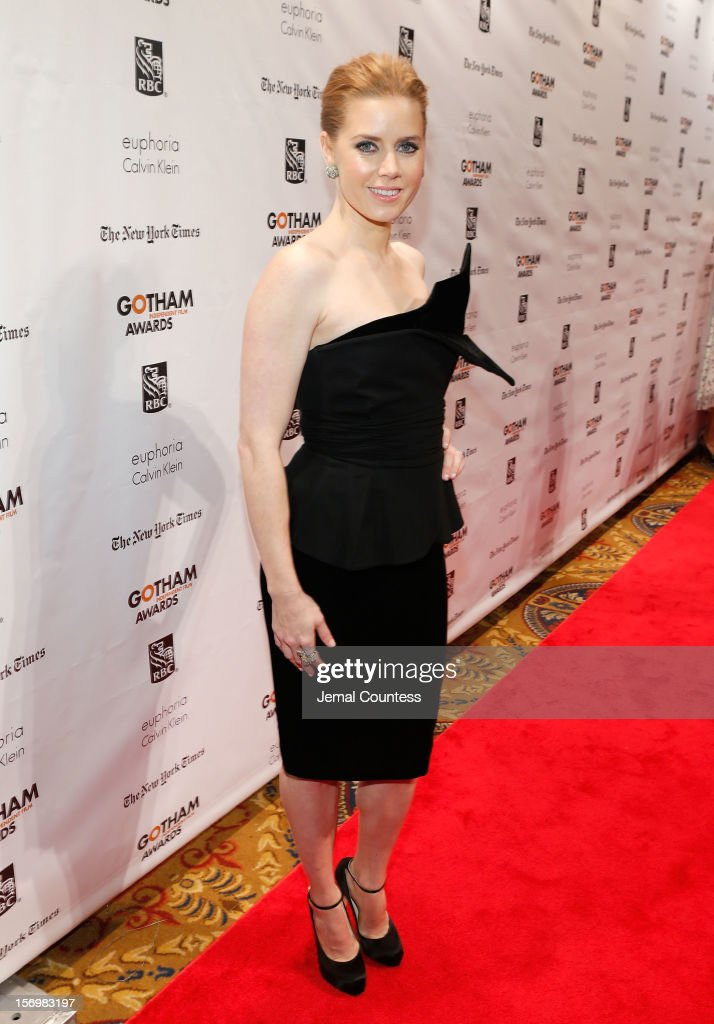Actress <a gi-track='captionPersonalityLinkClicked' href=/galleries/search?phrase=Amy+Adams&family=editorial&specificpeople=213938 ng-click='$event.stopPropagation()'>Amy Adams</a> attends the IFP's 22nd Annual Gotham Independent Film Awards at Cipriani Wall Street on November 26, 2012 in New York City.