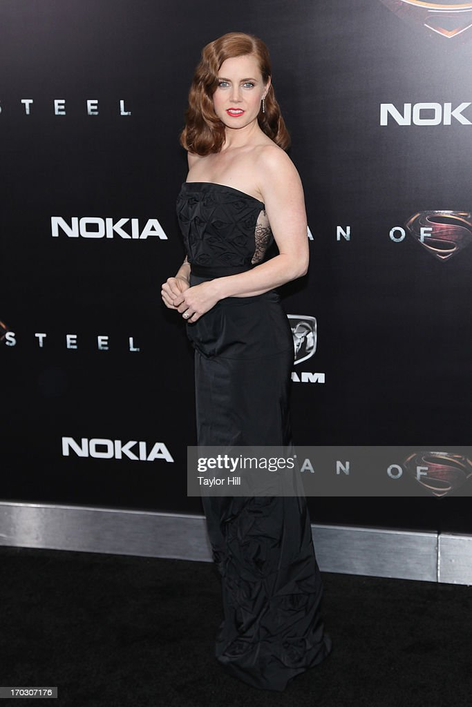 Actress <a gi-track='captionPersonalityLinkClicked' href=/galleries/search?phrase=Amy+Adams&family=editorial&specificpeople=213938 ng-click='$event.stopPropagation()'>Amy Adams</a> attends the 'Man Of Steel' World Premiere at Alice Tully Hall at Lincoln Center on June 10, 2013 in New York City.