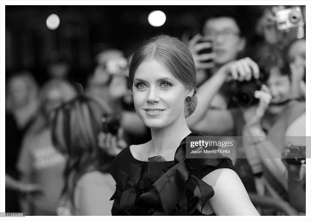 Actress <a gi-track='captionPersonalityLinkClicked' href=/galleries/search?phrase=Amy+Adams&family=editorial&specificpeople=213938 ng-click='$event.stopPropagation()'>Amy Adams</a> attends 'The Master' Premiere during the 2012 Toronto International Film Festival at Princess of Wales Theatre on September 7, 2012 in Toronto, Canada.