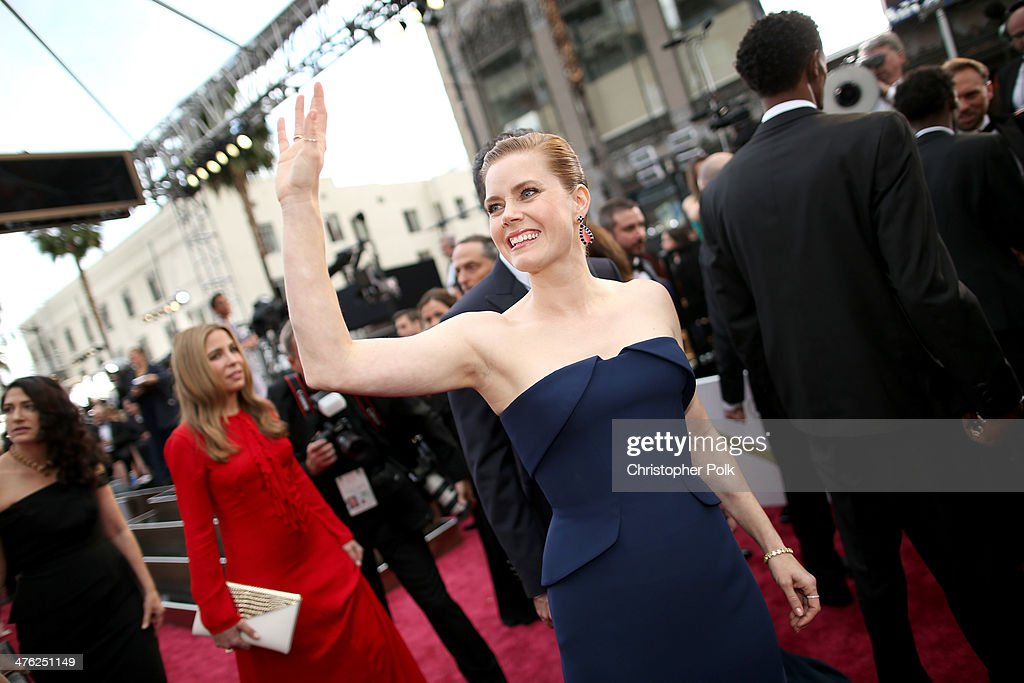 Actress Amy Adams attends the Oscars at Hollywood Highland Center on March 2 2014 in Hollywood California