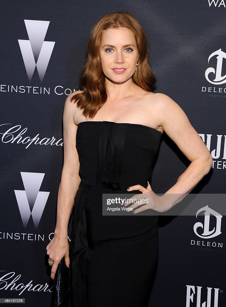 Actress <a gi-track='captionPersonalityLinkClicked' href=/galleries/search?phrase=Amy+Adams&family=editorial&specificpeople=213938 ng-click='$event.stopPropagation()'>Amy Adams</a> attends The Weinstein Company's Academy Awards Nominees Dinner in partnership with Chopard, DeLeon Tequila, FIJI Water and MAC Cosmetics on February 21, 2015 in Los Angeles, California.
