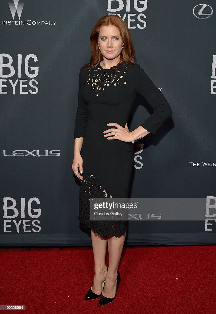 Actress <a gi-track='captionPersonalityLinkClicked' href=/galleries/search?phrase=Amy+Adams&family=editorial&specificpeople=213938 ng-click='$event.stopPropagation()'>Amy Adams</a> attends The Weinstein Company's 'Big Eyes' Los Angeles special screening in partnership with Lexus at Ace Hotel on December 9, 2014 in Los Angeles, California.
