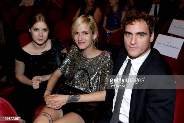 Actress Amy Adams Heather Christie and Joaquin Phoenix attend 'The Master' premiere during the 2012 Toronto International Film Festival at Princess...