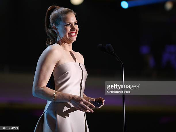 Actress Amy Adams onstage during the 20th annual Critics' Choice Movie Awards at the Hollywood Palladium on January 15 2015 in Los Angeles California