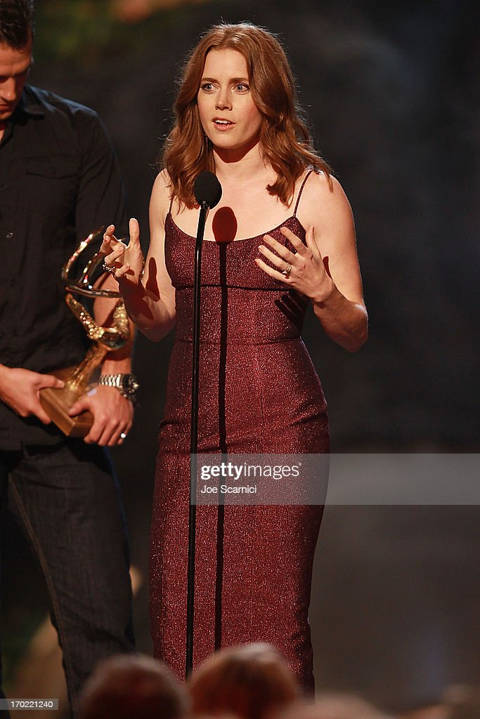 Actress Amy Adams speaks on stage during 2013 Spike TV 'Guys Choice' - Show at Sony Pictures Studios on June 8, 2013 in Culver City, California.
