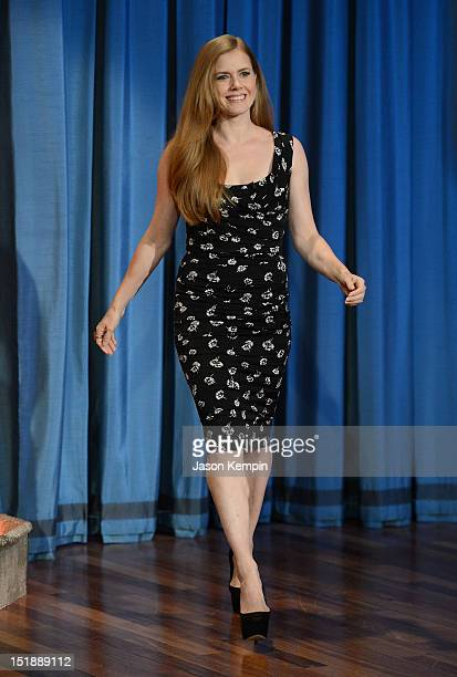 Actress Amy Adams visits 'Late Night With Jimmy Fallon' at Rockefeller Center on September 12 2012 in New York City