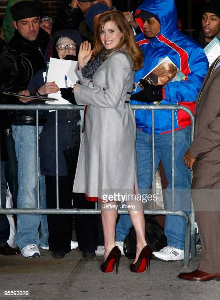 Actress Amy Adams visits 'Late Show With David Letterman' at the Ed Sullivan Theater on January 5 2010 in New York City