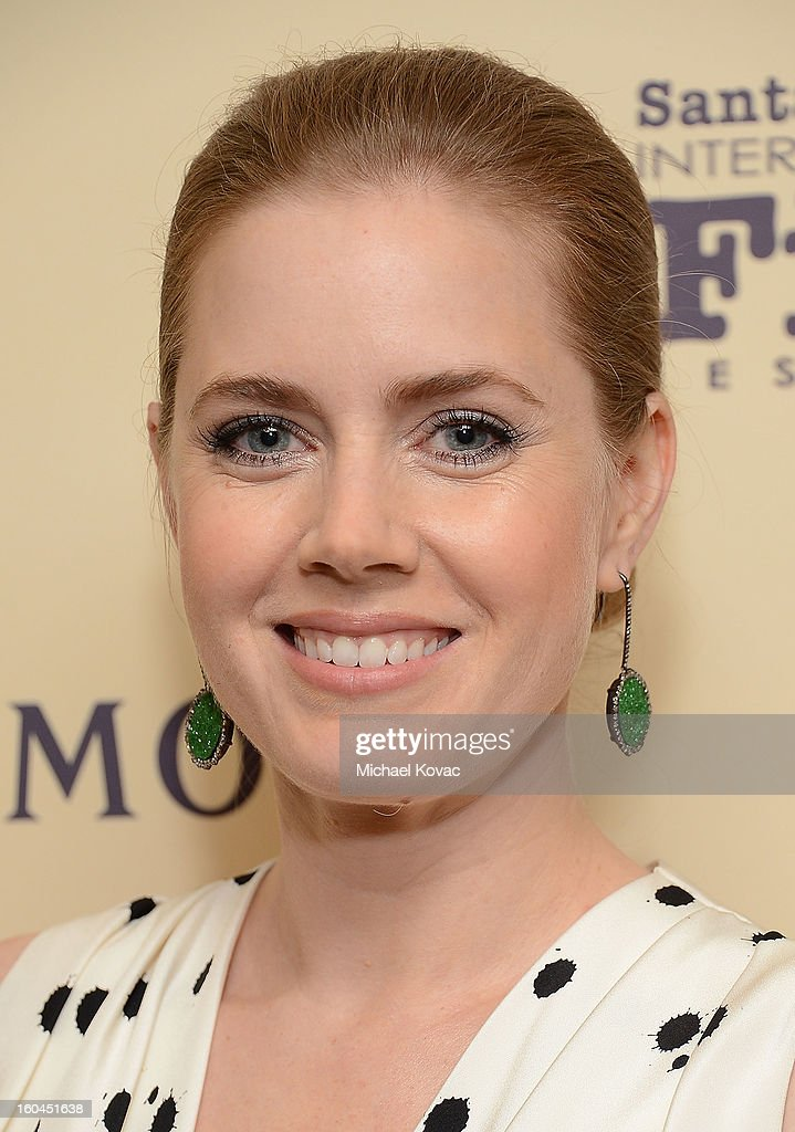 Actress <a gi-track='captionPersonalityLinkClicked' href=/galleries/search?phrase=Amy+Adams&family=editorial&specificpeople=213938 ng-click='$event.stopPropagation()'>Amy Adams</a> visits The Moet & Chandon Lounge at The Santa Barbara International Film Festival on January 31, 2013 in Santa Barbara, California.