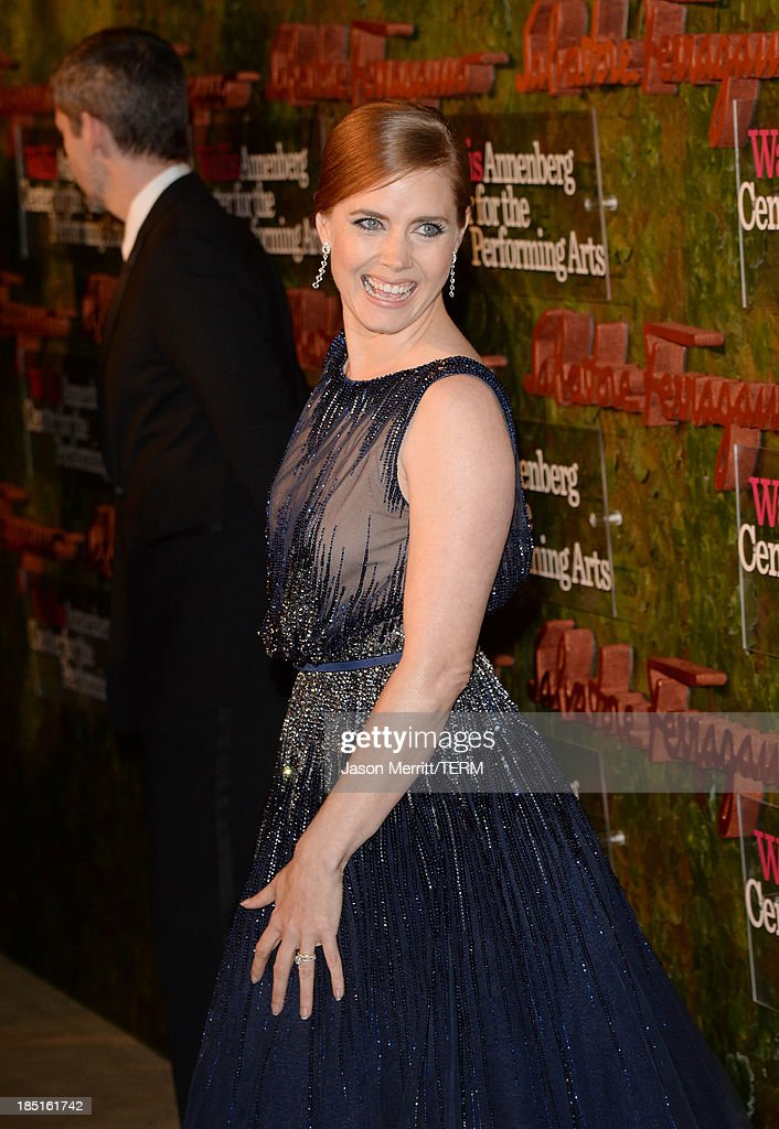 Actress Amy Adams, wearing Ferragamo, arrives at the Wallis Annenberg Center for the Performing Arts Inaugural Gala presented by Salvatore Ferragamo at the Wallis Annenberg Center for the Performing Arts on October 17, 2013 in Beverly Hills, California.