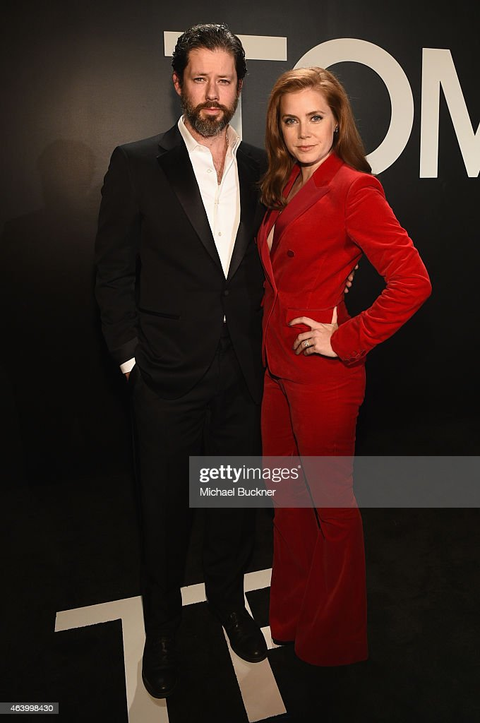Actress Amy Adams wearing TOM FORD and actor Darren Le Gallo attend the TOM FORD Autumn/Winter 2015 Womenswear Collection Presentation at Milk...