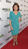 Actress Amy Aquino arrives for the red carpet premiere screening for Amazon's first original drama series 'Bosch' at ArcLight Cinemas Cinerama Dome...