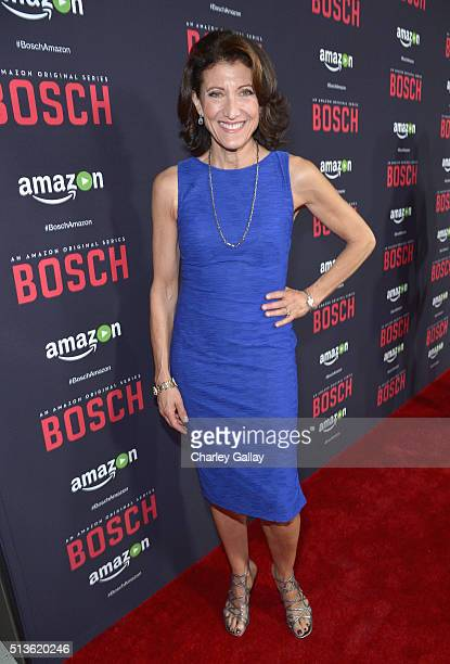 Actress Amy Aquino attends Amazon Red Carpet Premiere Screening For Season Two Of Original Drama Series 'Bosch' on March 3 2016 in Los Angeles...