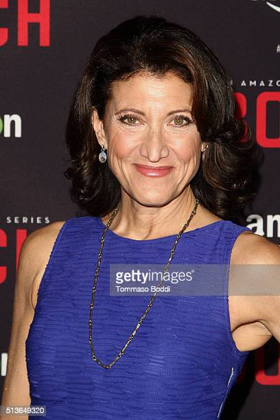 Actress Amy Aquino attends the Premiere Of Amazon's 'Bosch' Season 2 held at the SilverScreen Theater at the Pacific Design Center on March 3 2016 in...