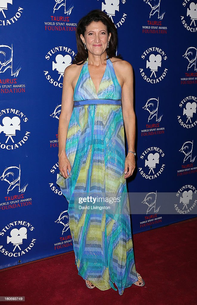 Actress Amy Aquino attends the Stuntmen's Association of Motion Pictures 52nd Annual Awards Dinner to benefit the Taurus World Stunt Awards Foundation at the Hilton Universal City on September 14, 2013 in Universal City, California.