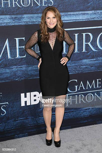 Actress Amy Brenneman arrives at the premiere of HBO's 'Game of Thrones' Season 6 at the TCL Chinese Theatre on April 10 2016 in Hollywood California