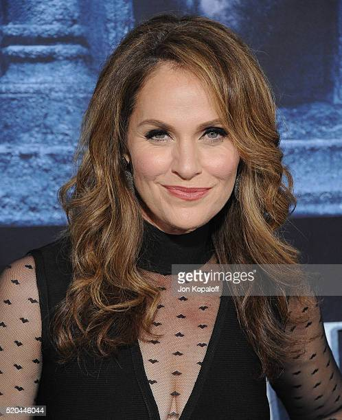 Actress Amy Brenneman arrives at the Premiere Of HBO's 'Game Of Thrones' Season 6 at TCL Chinese Theatre on April 10 2016 in Hollywood California