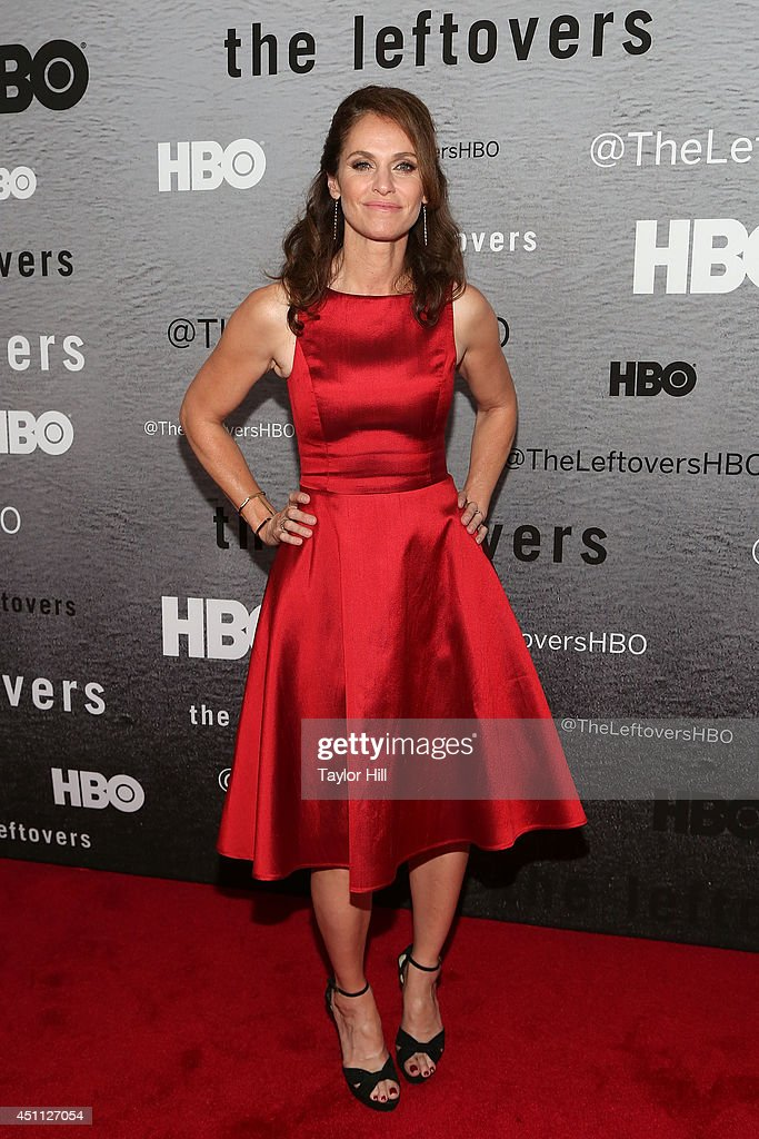 Actress Amy Brenneman attends 'The Leftovers' premiere at NYU Skirball Center on June 23, 2014 in New York City.