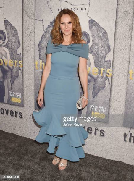 Actress Amy Brenneman attends the premiere of HBO's 'The Leftovers' Season 3 at Avalon Hollywood on April 4 2017 in Los Angeles California
