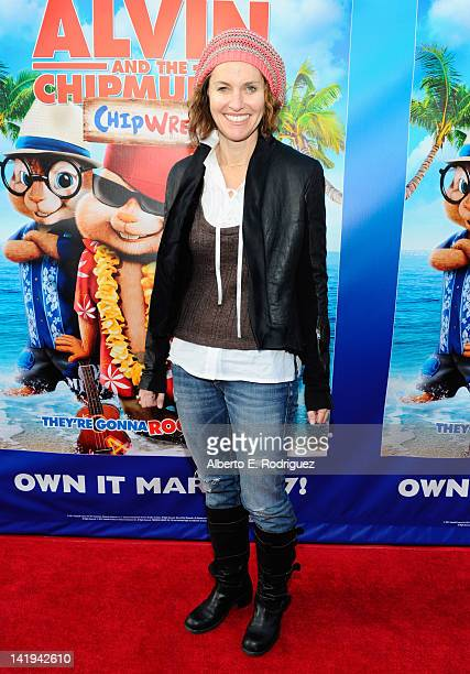Actress Amy Brenneman attends Twentieth Century Fox Home Entertainment's 'Alvin and the Chipmunks Chipwrecked' Bluray and DVD release party at El Rey...