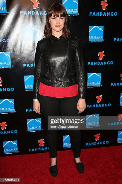 Actress Amy C Newbold attends Summit Entertainment's ComicCon Red Carpet Press Event at Hard Rock Hotel San Diego on July 18 2013 in San Diego...