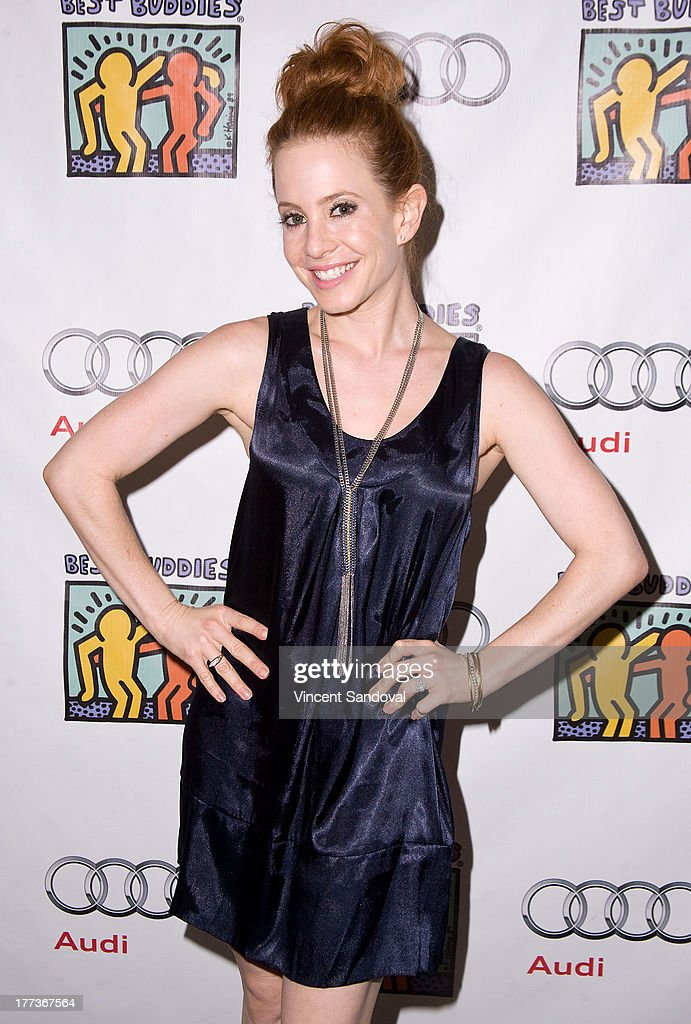 Actress <a gi-track='captionPersonalityLinkClicked' href=/galleries/search?phrase=Amy+Davidson&family=editorial&specificpeople=204218 ng-click='$event.stopPropagation()'>Amy Davidson</a> attends the Best Buddies poker event at Audi Beverly Hills on August 22, 2013 in Beverly Hills, California.