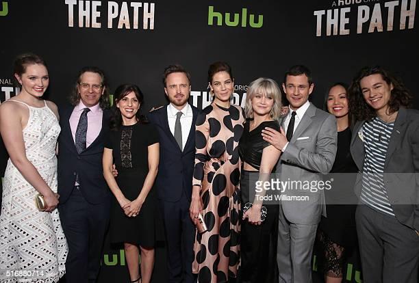 Actress Amy Forsyth Executive producer Jason Katims Creator/Executive producer Jessica Goldberg actors Aaron Paul Michelle Monaghan Emma Greenwell...