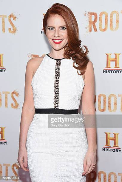 Actress Amy Halldin attends the 'Roots' night one screening at Alice Tully Hall Lincoln Center on May 23 2016 in New York City