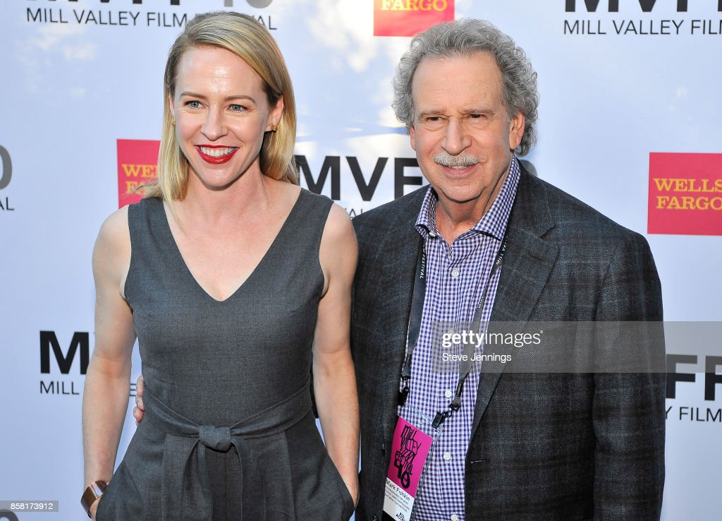 Actress Amy Hargreaves and MVFF Founder & Director Mark Fishkin attend the 40th Annual Mill Valley Film Festival at The Outdoor Art Club on October 5, 2017 in Mill Valley, California.
