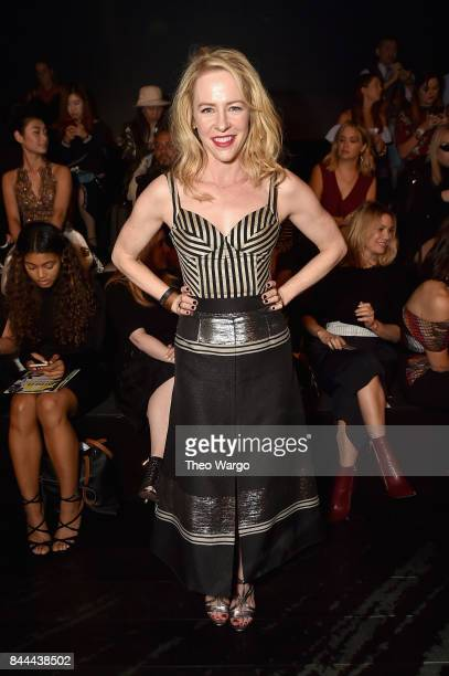 Actress Amy Hargreaves attends the Bibhu Mohapatra Fashion Show at Gallery 1 Skylight Clarkson Sq on September 8 2017 in New York City