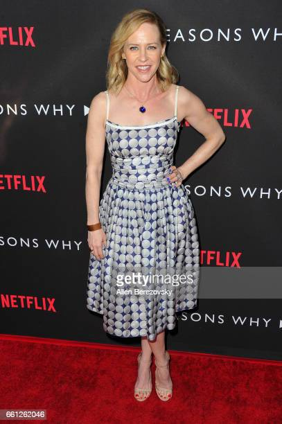 Actress Amy Hargreaves attends the Premiere of Netflix's '13 Reasons Why' at Paramount Pictures on March 30 2017 in Los Angeles California