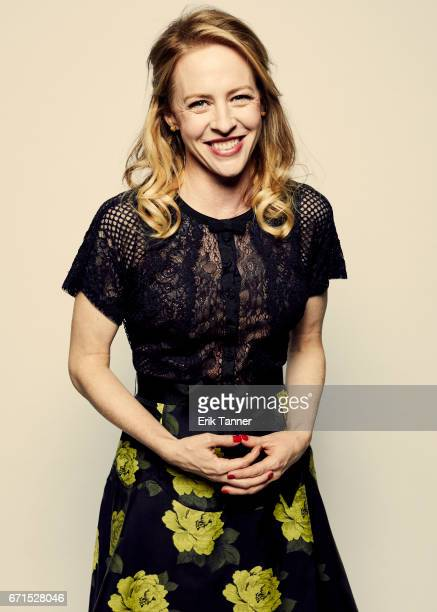 Actress Amy Hargreaves from 'Super Dark Times' poses for a portrait at the 2017 Tribeca Film Festival portrait studio on April 20 2017 in New York...