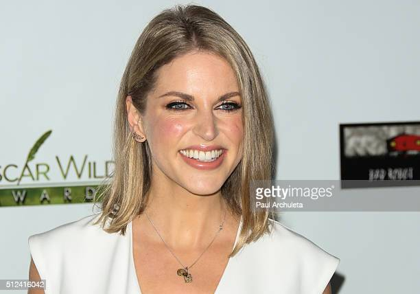 Actress Amy Huberman attends the 2016 Oscar Wilde Awards at Bad Robot Studios on February 25 2016 in Santa Monica California