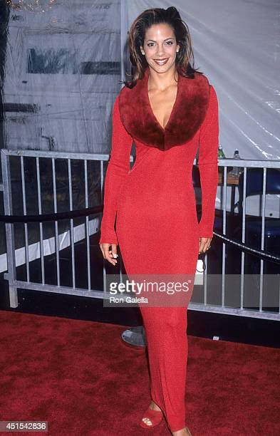 Actress Amy Hunter attends the First Annual Soul Train Christmas Starfest on November 24 1998 at the Santa Monica Civic Auditorium in Santa Monica...