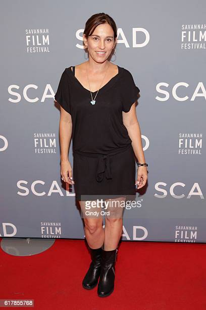 Actress Amy Jo Johnson attends the Molly Shannon Spotlight Award Presentation during the 19th Annual Savannah Film Festival presented by SCAD on...