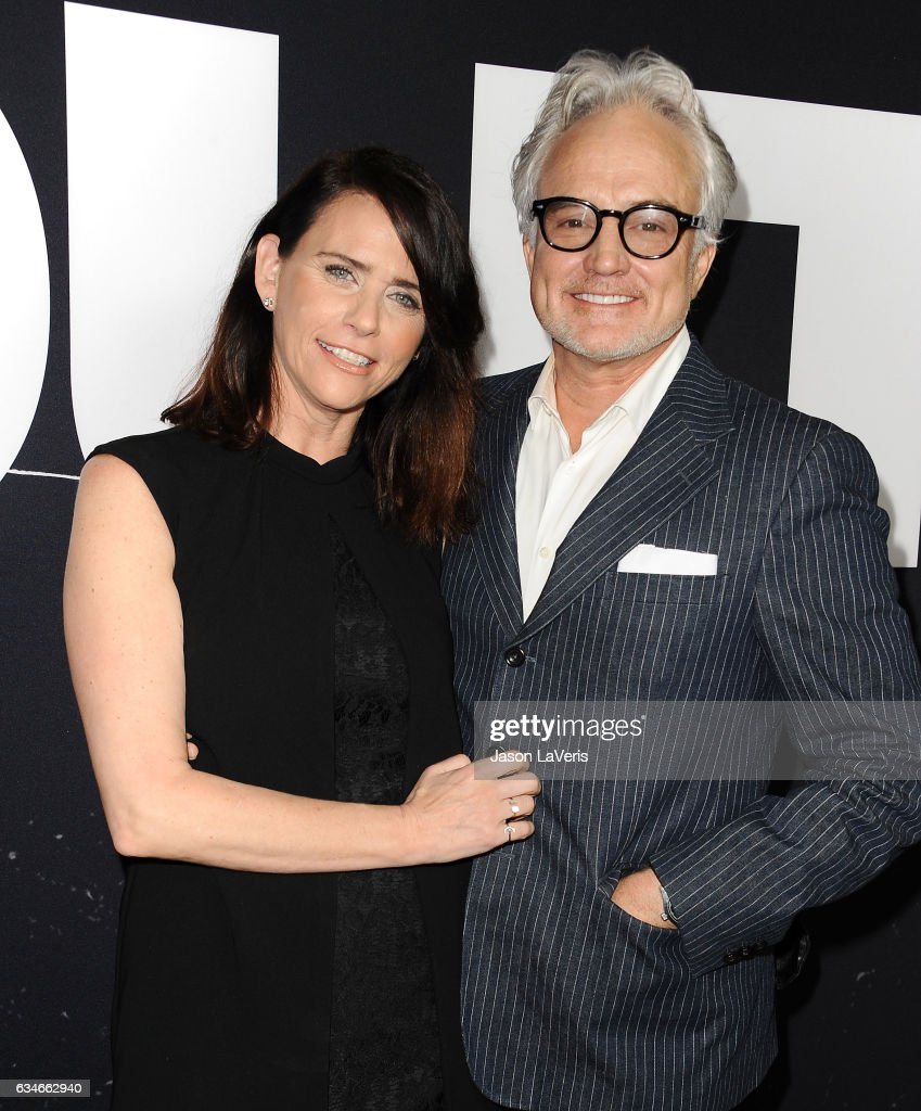 Actress Amy Landecker and actor Bradley Whitford attend a screening of 'Get Out' at Regal LA Live Stadium 14 on February 10, 2017 in Los Angeles, California.