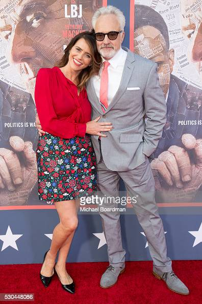Actress Amy Landecker and actor Bradley Whitford attends the premiere of HBO's 'All The Way' at Paramount Studios on May 10 2016 in Hollywood...