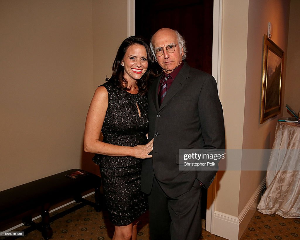 Actress <a gi-track='captionPersonalityLinkClicked' href=/galleries/search?phrase=Amy+Landecker&family=editorial&specificpeople=6149042 ng-click='$event.stopPropagation()'>Amy Landecker</a> and Actor/Writer/Producer <a gi-track='captionPersonalityLinkClicked' href=/galleries/search?phrase=Larry+David&family=editorial&specificpeople=125184 ng-click='$event.stopPropagation()'>Larry David</a> attend the Deer Valley Celebrity Skifest at the Montage Deer Valley on December 8, 2012 in Park City, Utah.