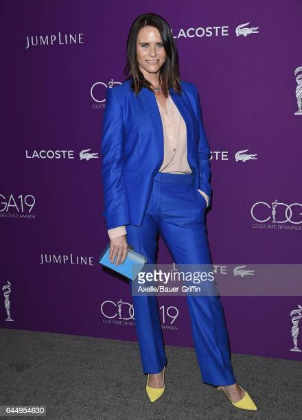Actress Amy Landecker arrives at the 19th CDGA at The Beverly Hilton Hotel on February 21 2017 in Beverly Hills California