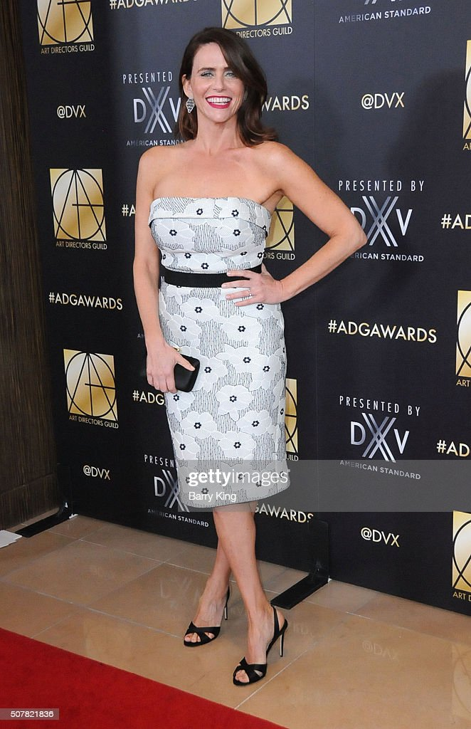 Actress Amy Landecker attends Art Directors Guild 20th Annual Excellence in Production Awards at The Beverly Hilton Hotel on January 31 2016 in...