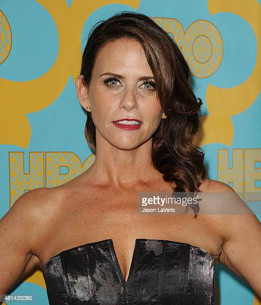 Actress Amy Landecker attends HBO's post Golden Globe Awards party at The Beverly Hilton Hotel on January 11 2015 in Beverly Hills California