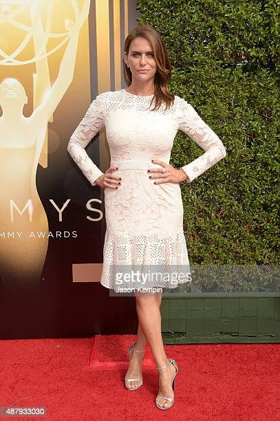 Actress Amy Landecker attends the 2015 Creative Arts Emmy Awards at Microsoft Theater on September 12 2015 in Los Angeles California