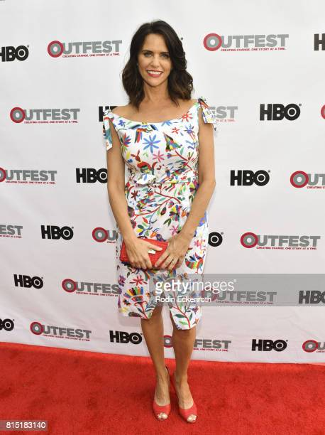 Actress Amy Landecker attends the 2017 Outfest Los Angeles LGBT Film Festival screening of Amazon's 'Transparent' Season 4 at Director's Guild Of...