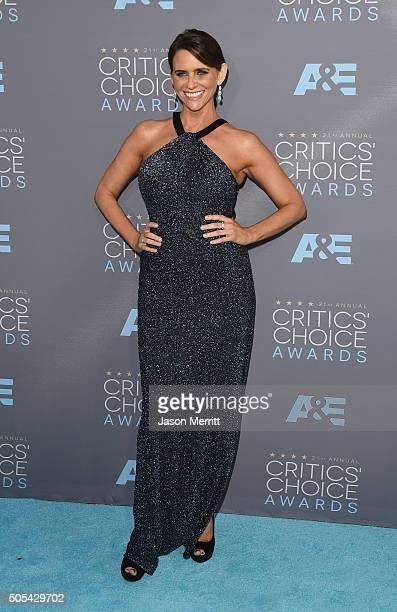 Actress Amy Landecker attends the 21st Annual Critics' Choice Awards at Barker Hangar on January 17 2016 in Santa Monica California