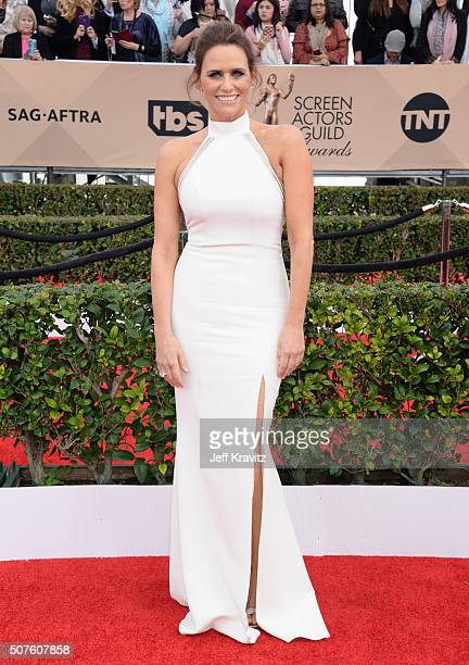 Actress Amy Landecker attends the 22nd Annual Screen Actors Guild Awards at The Shrine Auditorium on January 30 2016 in Los Angeles California