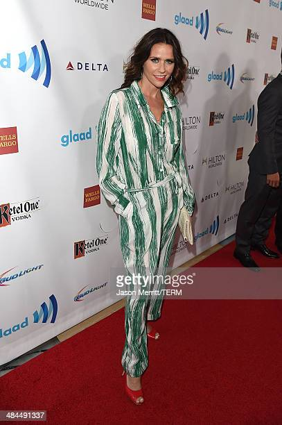 Actress Amy Landecker attends the 25th Annual GLAAD Media Awards at The Beverly Hilton Hotel on April 12 2014 in Los Angeles California