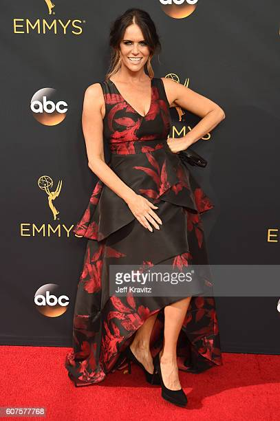 Actress Amy Landecker attends the 68th Annual Primetime Emmy Awards at Microsoft Theater on September 18 2016 in Los Angeles California