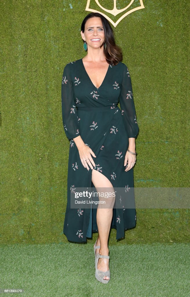Actress Amy Landecker attends the 8th Annual Veuve Clicquot Polo Classic at Will Rogers State Historic Park on October 14, 2017 in Pacific Palisades, California.