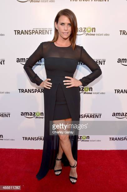 Actress Amy Landecker attends the Amazon red carpet premiere screening for brandnew dark comedy 'Transparent' at The Theatre at Ace Hotel on...